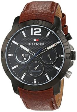 Tommy Hilfiger Herren Analog Quarz Uhr mit Leder Armband 1791269 - 1