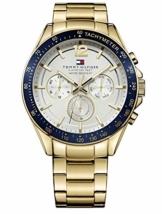 Tommy Hilfiger Herren Multi Zifferblatt Quarz Uhr mit Edelstahl Armband 1791121 - 1