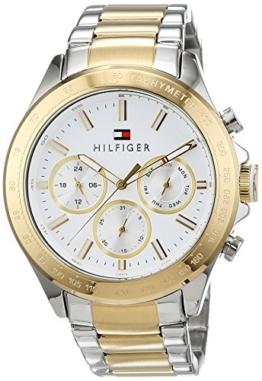Tommy Hilfiger Herren Multi Zifferblatt Quarz Uhr mit Edelstahl Armband 1791226 - 1
