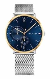 Tommy Hilfiger Herren Multi Zifferblatt Quarz Uhr mit Edelstahl Armband 1791505 - 1