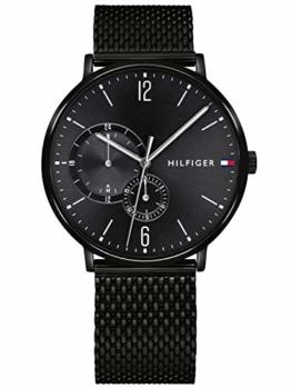 Tommy Hilfiger Herren Multi Zifferblatt Quarz Uhr mit Edelstahl Armband 1791507 - 1