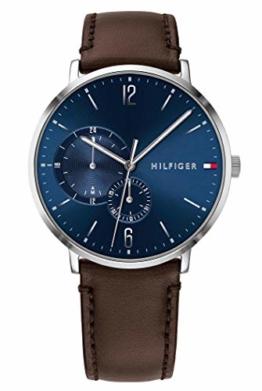 Tommy Hilfiger Herren Multi Zifferblatt Quarz Uhr mit Leder Armband 1791508 - 1