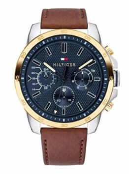 Tommy Hilfiger Herren Multi Zifferblatt Quarz Uhr mit Leder Armband 1791561 - 1