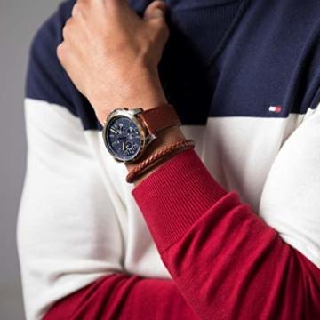 Tommy Hilfiger Herren Multi Zifferblatt Quarz Uhr mit Leder Armband 1791561 - 4
