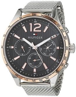 Tommy Hilfiger Unisex Multi Zifferblatt Quarz Uhr mit Edelstahl Armband 1791466 - 1