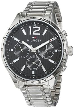 Tommy Hilfiger Unisex Multi Zifferblatt Quarz Uhr mit Edelstahl Armband 1791469 - 1