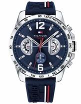 Tommy Hilfiger Unisex Multi Zifferblatt Quarz Uhr mit Silikon Armband 1791476 - 1
