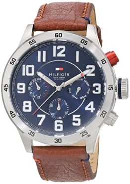 Tommy Hilfiger Watches Herren-Armbanduhr Analog Quarz Leder 1791066 - 1