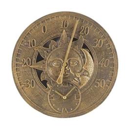 Unbekannt Sun & Moon Wandthermometer und Uhr, 30,5 cm - 1