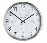 UNILUX 400094566 große Funk-Wanduhr Outdoor 35,5 cm grau für drinnen- und draußen deutsche Präzision Quarzwerk Analoge Uhr fürden Außenbereich - 1