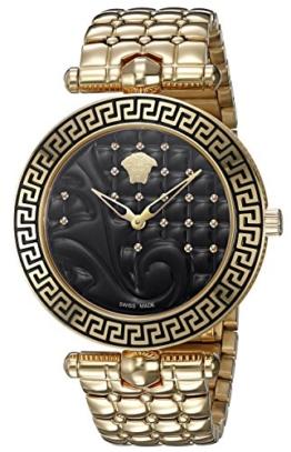 Versace Damen Analog Quarz Uhr mit Edelstahl Armband VK7250015 - 1