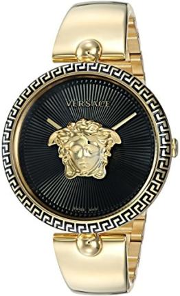 Versace Damen-Armbanduhr Palazzo Empire Quarz und Edelstahl Casualuhr, Farbe: Goldfarben (Modell: VCO100017) - 1