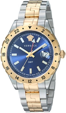 Versace Herren analog Schweizer Quarzwerk Uhr V11060017 - 1