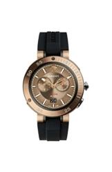 Versace Herren Chronograph Quarz Uhr mit Gummi Armband VCN030017 - 1
