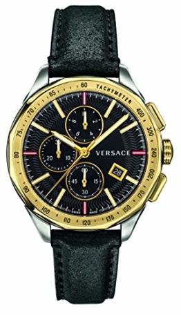 Versace Herren Uhr Armbanduhr Chronograph Glaze Leder VEBJ00218 - 1