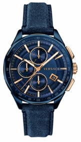 Versace Herren Uhr Armbanduhr Chronograph Glaze Leder VEBJ00318 - 1