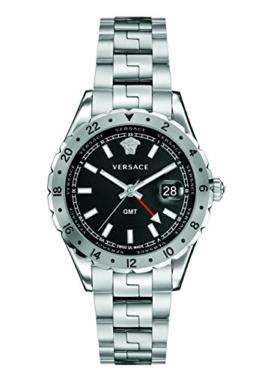 Versace Unisex Erwachsene Analog Quarz Uhr mit Edelstahl Armband V11020015 - 1