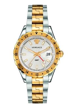 Versace Unisex Erwachsene Analog Quarz Uhr mit Edelstahl Armband V11030015 - 1