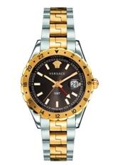 Versace Unisex Erwachsene Analog Quarz Uhr mit Edelstahl Armband V11040015 - 1