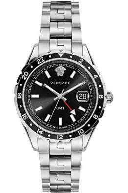 Versace Unisex Erwachsene Analog Quarz Uhr mit Edelstahl Armband V11100017 - 1