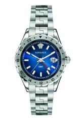 Versace V11010015 Herren Analog Quarz GMT Uhr mit Edelstahlarmband Blau Hellenyium - 1