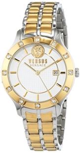 Versus by Versace Damen Analog Quarz Uhr mit Edelstahl Armband VSP460218 - 1