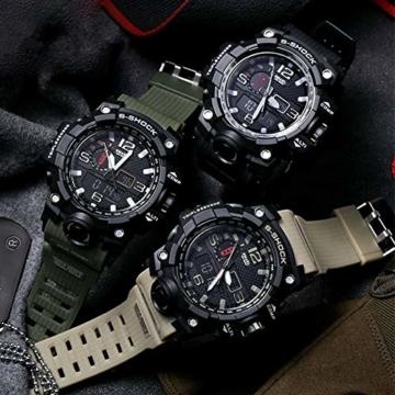 WAZA Militär Uhr Herren, Sportuhr Fit Uhr Wasserdicht Nachtleuchtende Stoppuhr Digitaluhren - 2