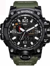 WAZA Militär Uhr Herren, Sportuhr Fit Uhr Wasserdicht Nachtleuchtende Stoppuhr Digitaluhren - 1