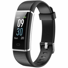 Willful Fitness Armband mit Pulsmesser,Wasserdicht IP68 Fitness Tracker Farbbildschirm Fitness Uhr Aktivitätstracker Schrittzähler Uhr Smartwatch Damen Herren Anruf SMS Beachten für iOS Android Handy - 1