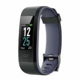 Willful Fitness Armband mit Pulsuhr,Wasserdicht IP68 Fitness Uhr Smartwatch Farbbildschirm Fitness Tracker Pulsmesser Schrittzähler Sportuhr für Damen Herren Anruf SMS Beachten für iOS Android Handy - 1