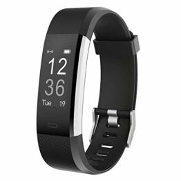Willful Fitness Armband,Wasserdicht IP67 Smartwatch Fitness Tracker Fitness Uhr Pulsuhr Schrittzähler Uhr Damen Herren Aktivitätstracker mit Vibrationsalarm Anruf SMS Whatsapp für iOS Android Handy - 1