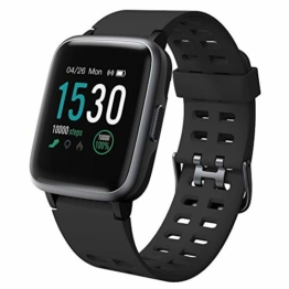 Willful Smartwatch,Fitness Armband mit Pulsuhr 1,3 Zoll Touchscreen Fitness Uhr 5ATM Wasserdicht Fitness Tracker Sportuhr mit Schrittzähler Stoppuhr Smart Watch für Damen Herren für iOS Android Handy - 1