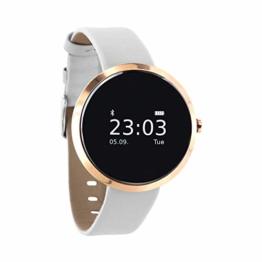 """X-WATCH 54008  """"SIONA XW FIT"""" Damen Smartwatch, Activity Tracker für Android und Apple iOS pure polar weiß - 1"""