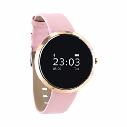 "X-WATCH 54010 ""SIONA XW FIT"" Damen Smartwatch, Activity Tracker für Android und Apple iOS Light Rose Gold - 1"