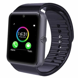 YAMAY Bluetooth Smartwatch Fitness Uhr Intelligente Armbanduhr Fitness Tracker Smart Watch Sport Uhr mit Kamera Schrittzähler Schlaftracker Romte Capture Kompatibel mit Android Smartphone - 1