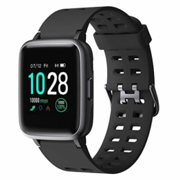 YAMAY Smartwatch,Fitness Armband Uhr Voller Touch Screen Fitness Uhr IP68 Wasserdicht Fitness Tracker Sportuhr mit Schrittzähler Pulsuhren Stoppuhr für Damen Herren Smart Watch für iOS Android Handy - 1