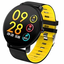 YEARNLY Smartwatch Wasserdicht IP68 Smart Watch Uhr mit Pulsmesser Fitness Tracker Sport Uhr Fitness Uhr mit Schrittzähler,Schlaf-Monitor,Stoppuhr,Call SMS Benachrichtigung Push für Android und iOS - 1