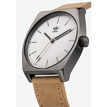 Adidas Herren Analog Quarz Uhr mit Leder Armband Z05-2916-00 - 2