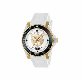 Gucci Uhr Dive cauuciu wei-gehuse pvd Gold-gelb YA136322 - 1