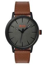 Hugo Boss Orange Herren-Armbanduhr Quarz mit Leder Armband 1550054 - 1