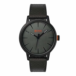 Hugo Boss Orange Herren-Armbanduhr Quarz mit Leder Armband 1550055 - 1
