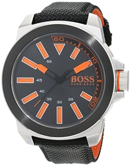 Hugo Boss Orange New York Herren-Armbanduhr Quartz mit Textil Armband  1513116 - 1
