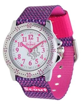 Scout Mdchen Analog Quarz Uhr mit Textil Armband 280378006 - 1