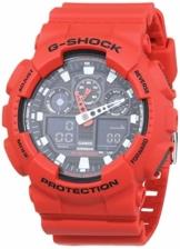 Casio G-Shock Analog-Digital Herren-Armbanduhr GA-100B rot, 20 BAR - 1