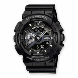Casio G-Shock Analog-Digital Herren-Armbanduhr GA-110 blau schwarz, 20 BAR - 1