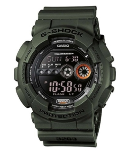 Casio G-Shock Digital Herrenarmbanduhr GD-100MS grün, 20 BAR - 1