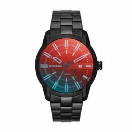 Diesel Herren Analog Quarz Uhr mit Edelstahl Armband DZ1870 - 1