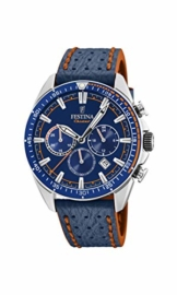 Festina Herren Chronograph Quarz Uhr mit Leder Armband F20377/2 - 1