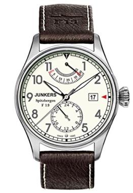 Junkers Herren-Armbanduhr XL Spitzbergen F13 Analog Automatik Leder 61605 - 1