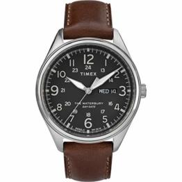 Timex Herren Analog Quarz Uhr mit Leder Armband TW2R89000 - 1